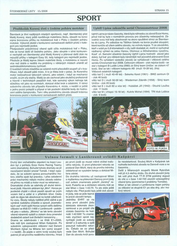 Předškolák Korený třetí v českém poháru motokár